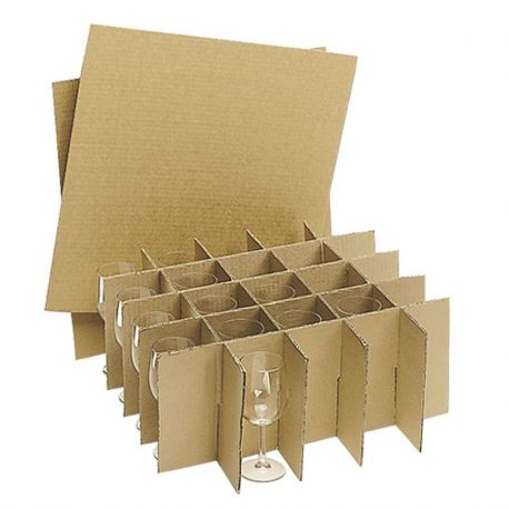 Carton spécial verres barrel PM + croisillons ( x100 verres )