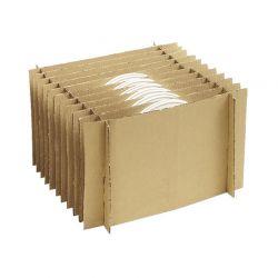 Carton 'BARREL' + croisillons x48 assiettes