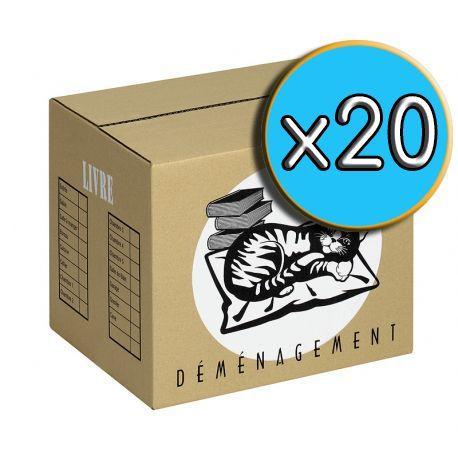 Carton 'LIVRE' pack x20
