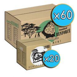 Cartons 'LIVRE' x20 + 'STANDARD' x60