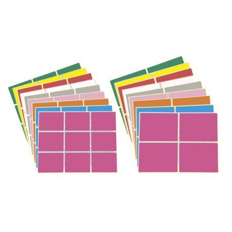 Planche de 9 étiquettes couleurs aux choix