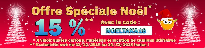Takademenager Offre Spécial Noël 2018 promo cartons déménagement promotion